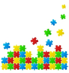 Abstract background made from puzzle pieces vector image vector image