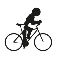 bicycle sign black icon on vector image vector image