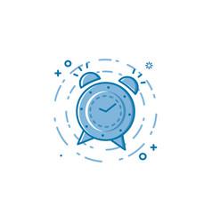 flat bold line alarm clock vector image