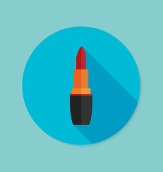 Lipstick flat icon with long shadow eps10 vector