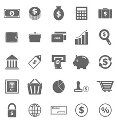 Money icons on white background vector image vector image