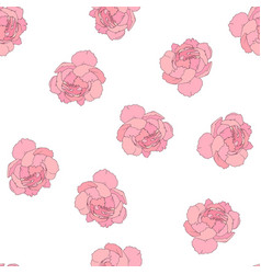 peony flowes seamless pattern vector image vector image