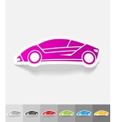 realistic design element car vector image