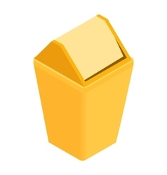 Trash plastic can with lid icon isometric 3d style vector image vector image