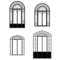 windows and doorwindows vector image vector image