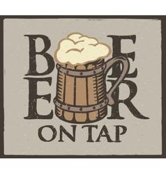 beer wooden glass vector image vector image