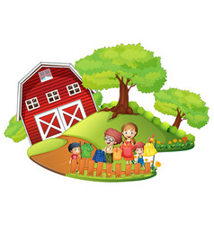 children doing laundry at home vector image