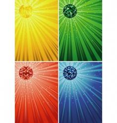 disco ball backgrounds vector image