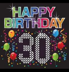 happy 30th birthday vector image vector image