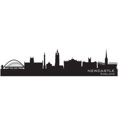 Newcastle England skyline Detailed silhouette vector image