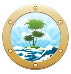 Palm Island vector image