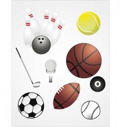 sport ball set vector image