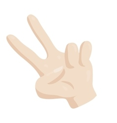 Victory hand sign icon cartoon style vector image