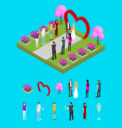 wedding ceremony place isometric view vector image vector image