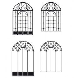 windows and door windows vector image vector image