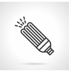 Power save bulb black line design icon vector image