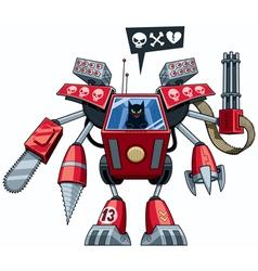 Robo-cat vector image