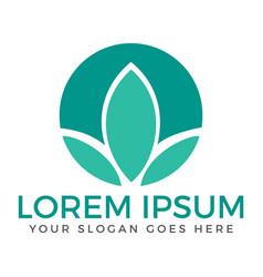 spa lotus wellness salon and business spa logo vector image