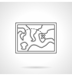 Touristic map flat line design icon vector image
