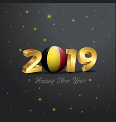2019 happy new year belgium flag typography vector