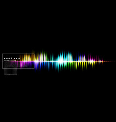 abstract background with a colored sound wave on vector image
