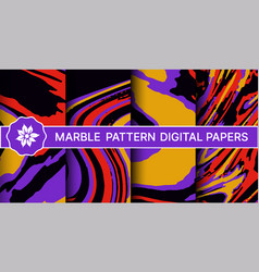 abstract marble pattern set backgrounds vector image