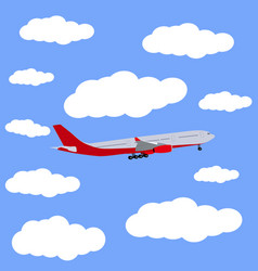 Airplane in the sky icon vector
