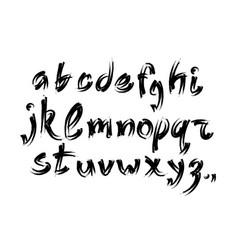 Alphabet letters collection text black lettering vector