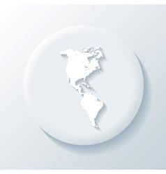 America 3D Paper Icon vector