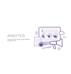 analytics website search information financial vector image
