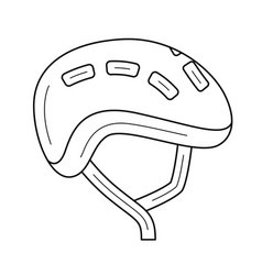 Bike helmet line icon vector