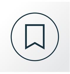 Bookmark icon line symbol premium quality vector
