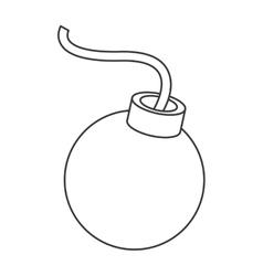Cartoon bomb icon vector