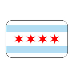 Chicago flag icon vector
