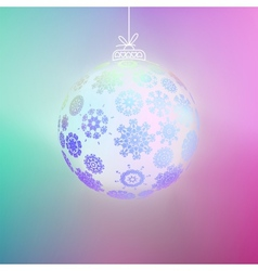 Christmas ball made from snowflakes EPS8 vector image vector image
