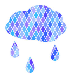 cloud with rain vector image