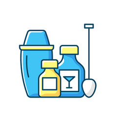 Cocktail kits rgb color icon vector