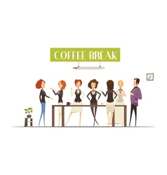 Coffee Break Cartoon Style vector image