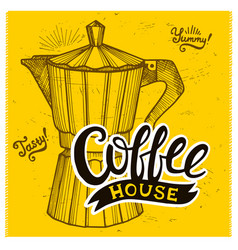Coffee poster for restaurant and cafe vector