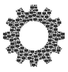 cog composition of computer display icons vector image