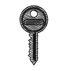 color crayon stripe image cartoon metallic key vector image