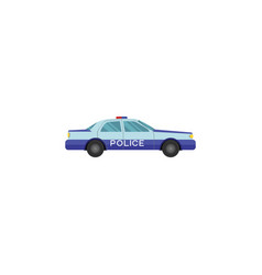 color image police car on a white vector image