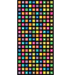 colorful mobile icons vector image