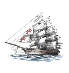 Columbus ship vector