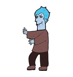 Comic cartoon vampire vector