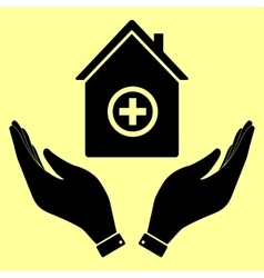 Concept icon with hands vector