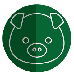 Cute and tender piggy kawaii style vector