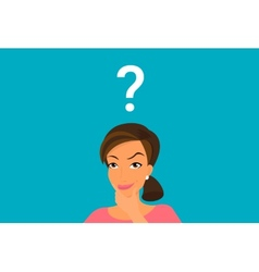 Cute woman has a question vector