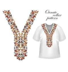 Design for collar shirts shirts blouses T-shirt vector image