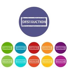 Destruction flat icon vector